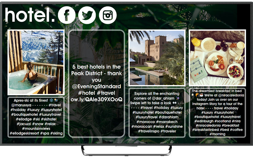 Social TV for hotels
