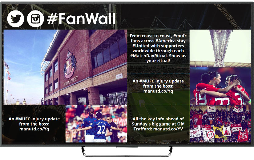 Tweetwall for sports stadiums