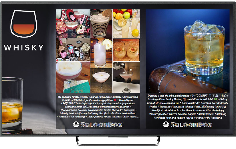 Social media wall for drinks' branding events