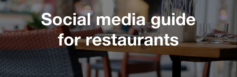 Social media guide for restaurants