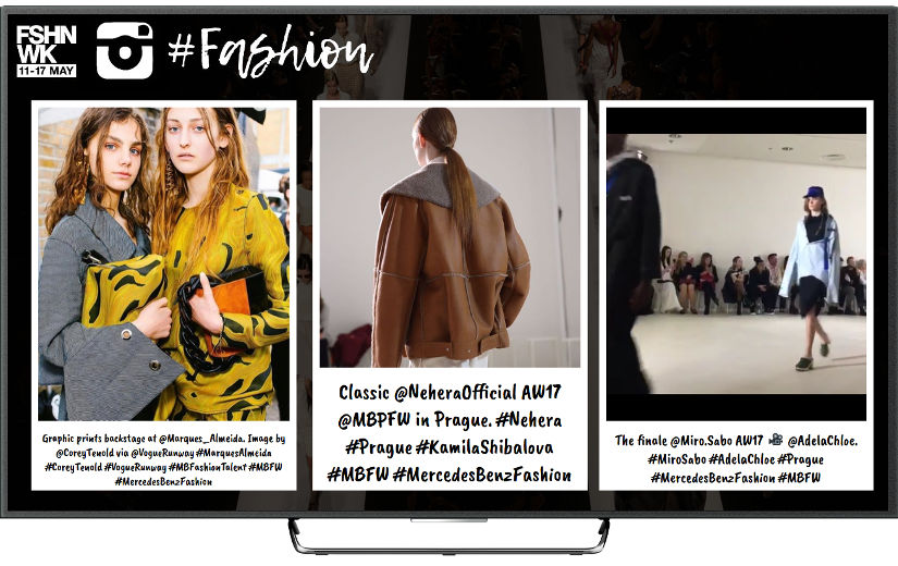 Instagramwall para desfiles de moda