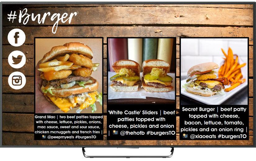 TV social para restaurantes