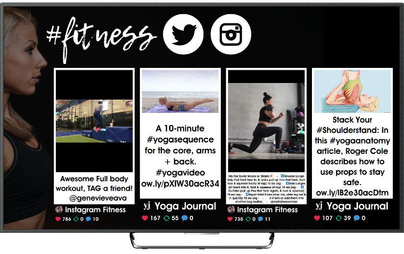 TV social para gimnasios