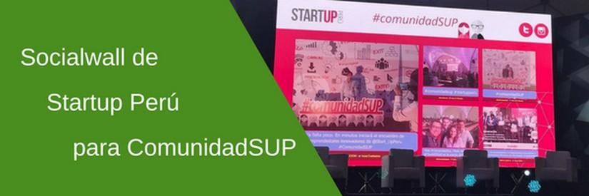 Socialwall de Startup Perú en Comunidad SUP