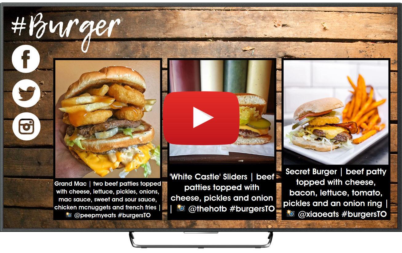 Cartelería digital para restaurantes