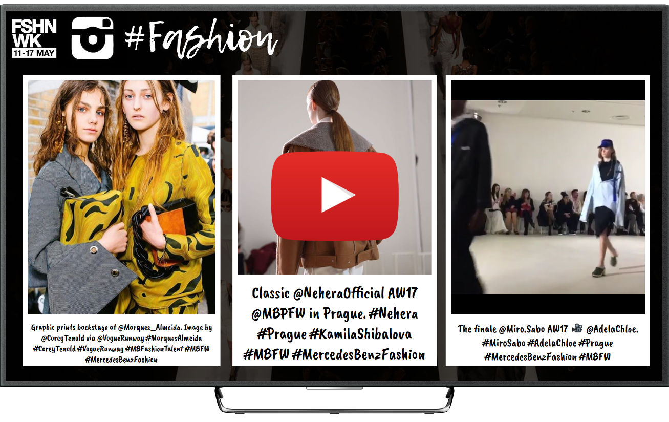 Instagram wall for fashion shows