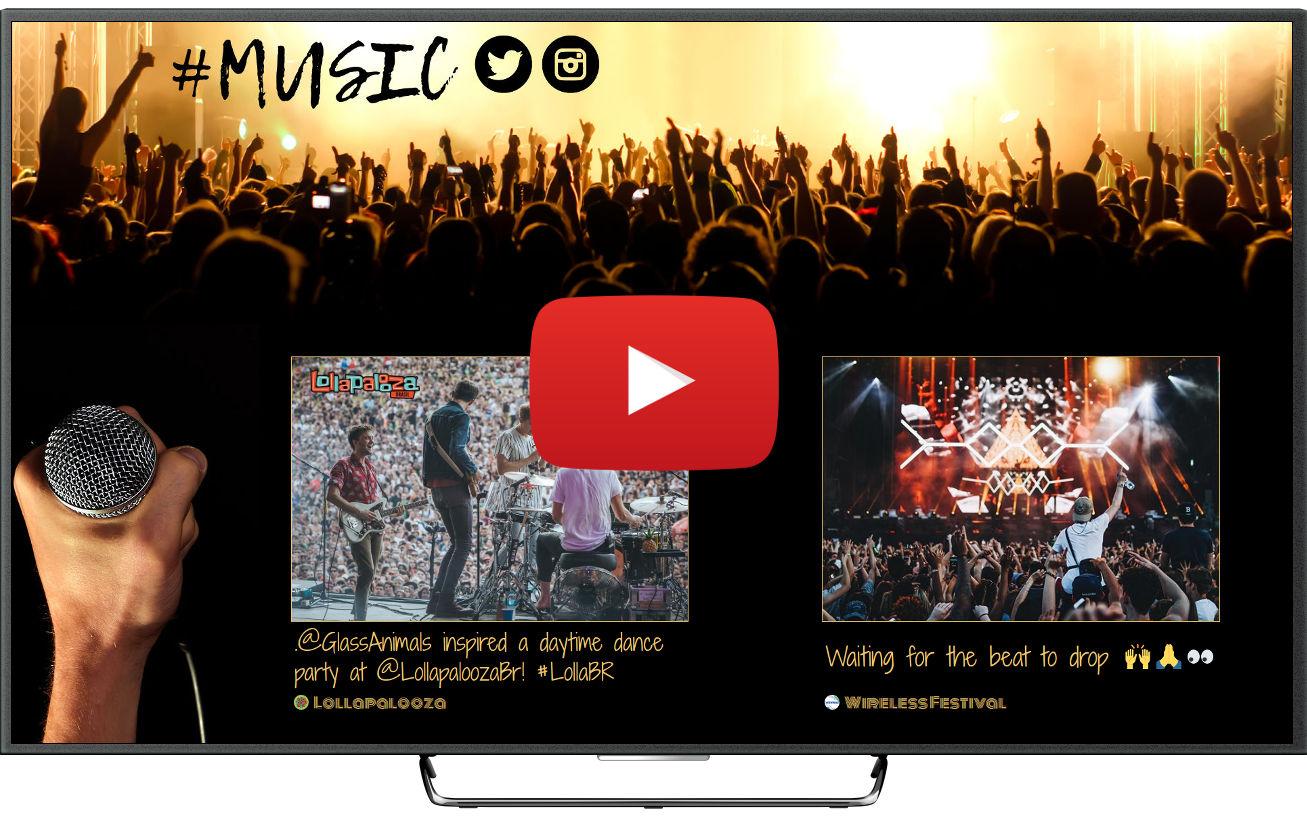 Proyectar vídeos de YouTube en pantallas